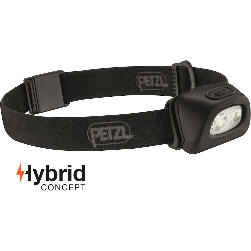 Lampe Petzl frontale Tactikka+RGB 350 lumens noir