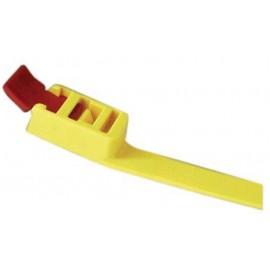 Menotte d'entraînement plastique jaune