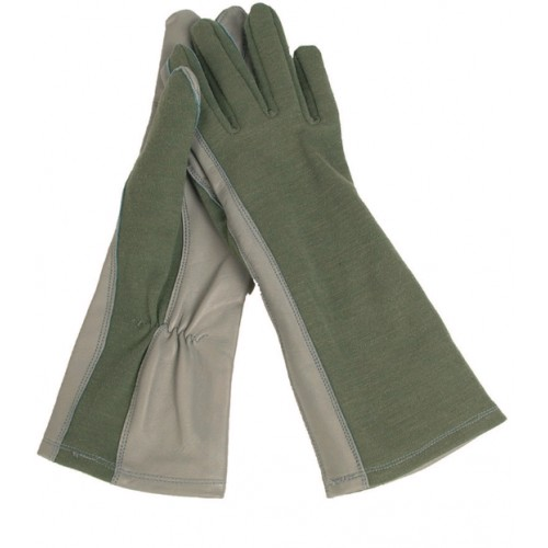 Handschuhe Pilot Nomex gefüttert grün