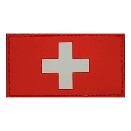 Patch drapeau Suisse rouge blanc