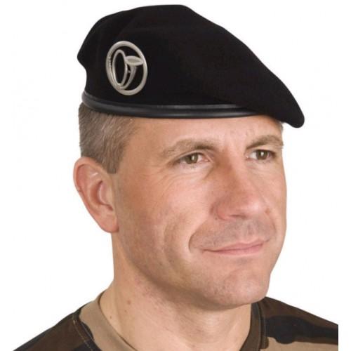 Militär Beret schwarz