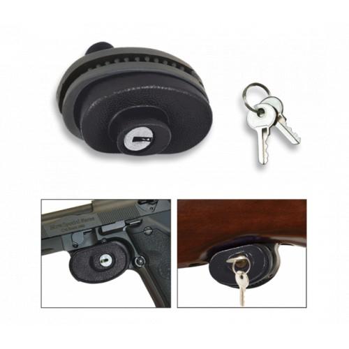 Waffensicherung mit Schlüssel