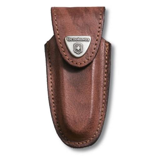 Etui ceinture arrondi cuir brun