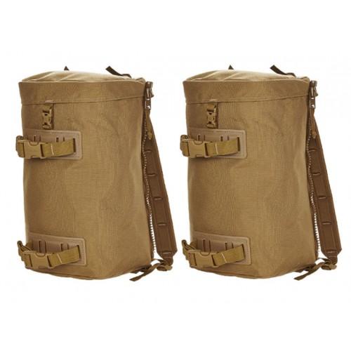 Seitentaschen MMPS für Rucksack coyote