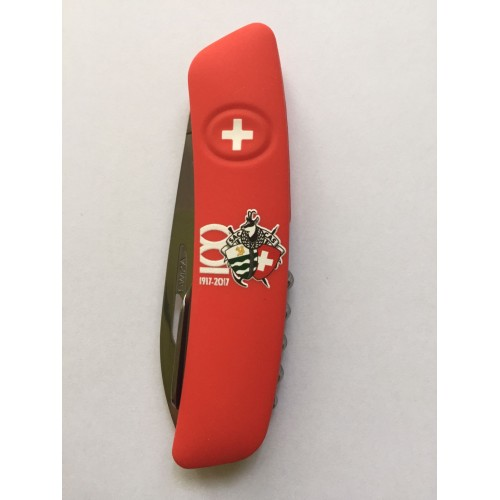 Couteau Swiza 100ème Club Alpin rouge