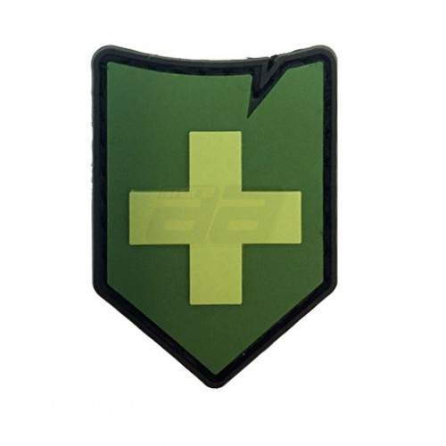 Patch suisse 37x45mm verte