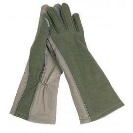 Handschuhe Pilot Nomex grün