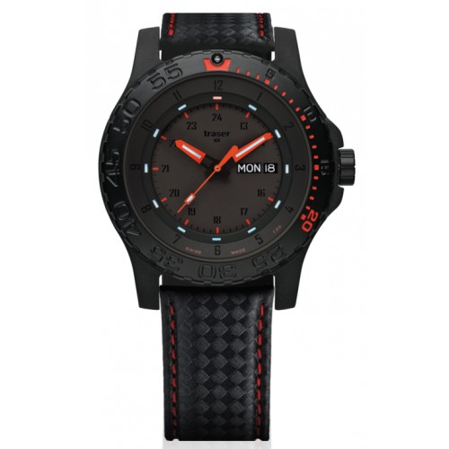 Montre traser red combat rouge/noir