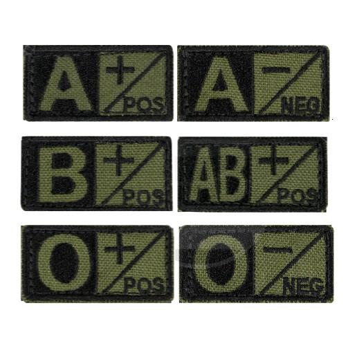 Blutgruppenabzeichen 2.5 x 5cm grün