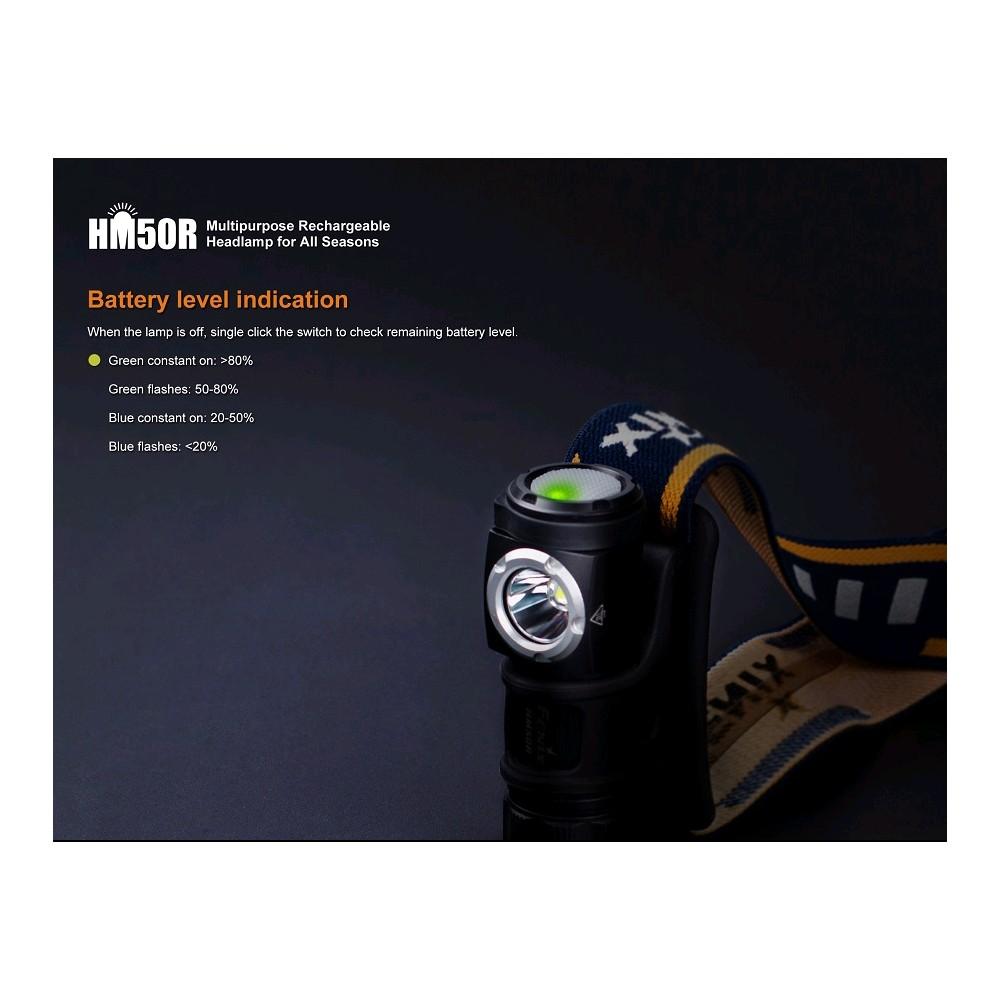 Lampe frontale HM50R 4-500 lumens