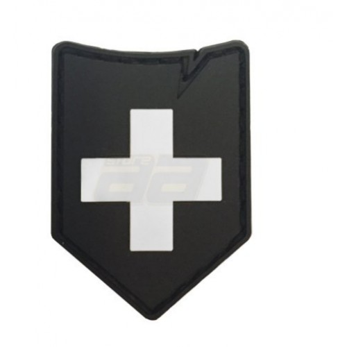 Patch suisse 37x45mm noir