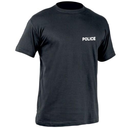 T-Shirt Police noir