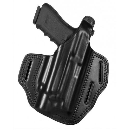 Holster rapide Pancake cuir Glock 19/23 noir H138