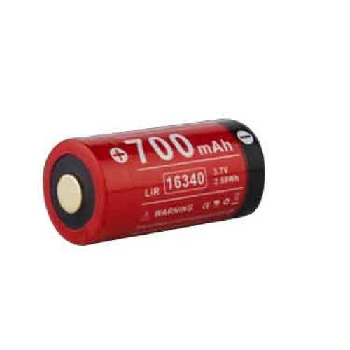 Batterie wiederaufladbar 700mAh 3.7V 16340