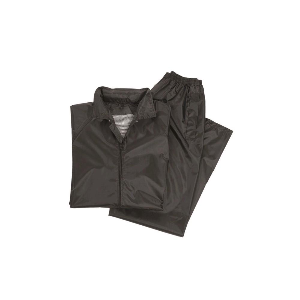 Regeananzug schwarz