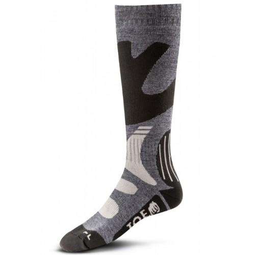 Socken Hiver grau-schwarz