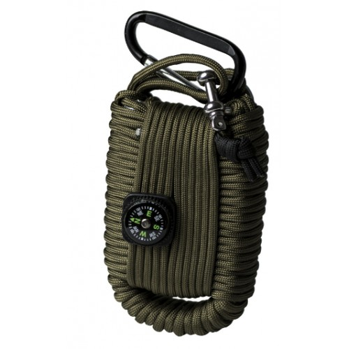 Paracord survival kit large oliv