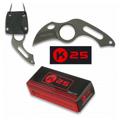 COUTEAU TACTIQUE K25  GAINE KYDEX 4CM  31849