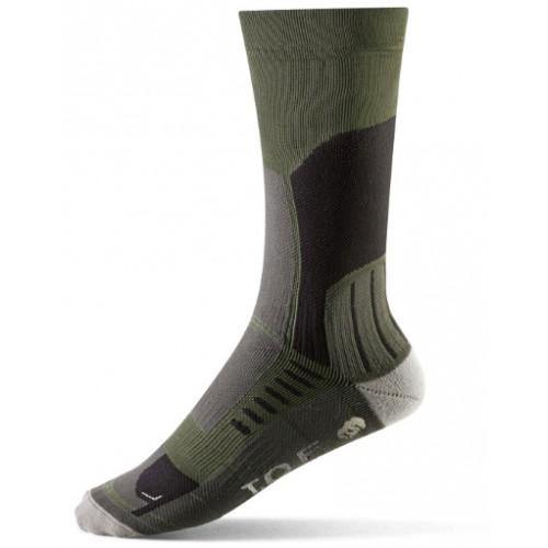 Socken warmes Klima grün-grau