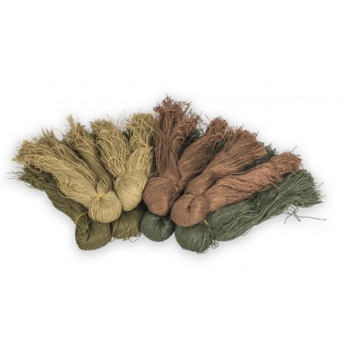 Ghillie fiber yarns woodland