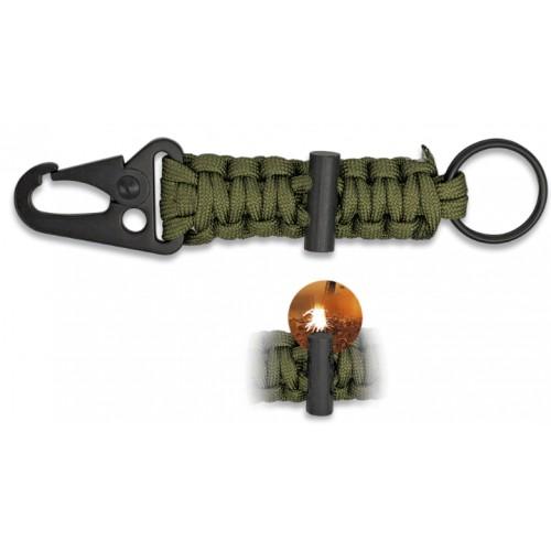 Porte-clés paracorde avec silex