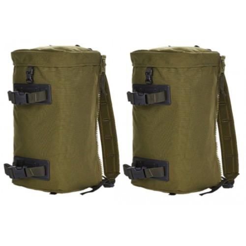 Seitentaschen MMPS für Rucksack olive