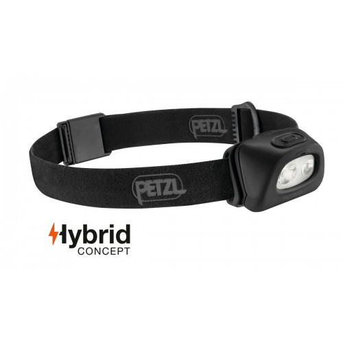 Lampe Petzl frontale Tactikka+ 250 lumens noir