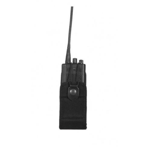 Porte radio noire cordura - taille moyenne