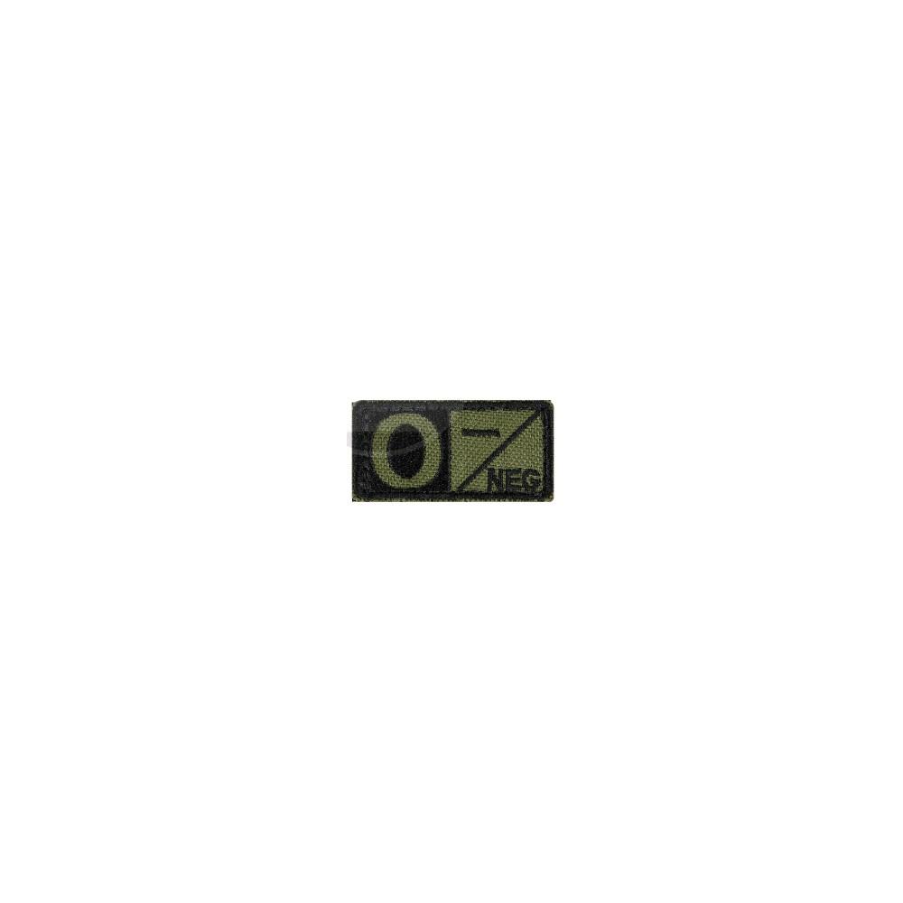 Badge groupe sanguin 2.5 x 5cm vert