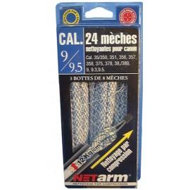 Blister 24 mèches bleus calibres 9/ 9,5mm