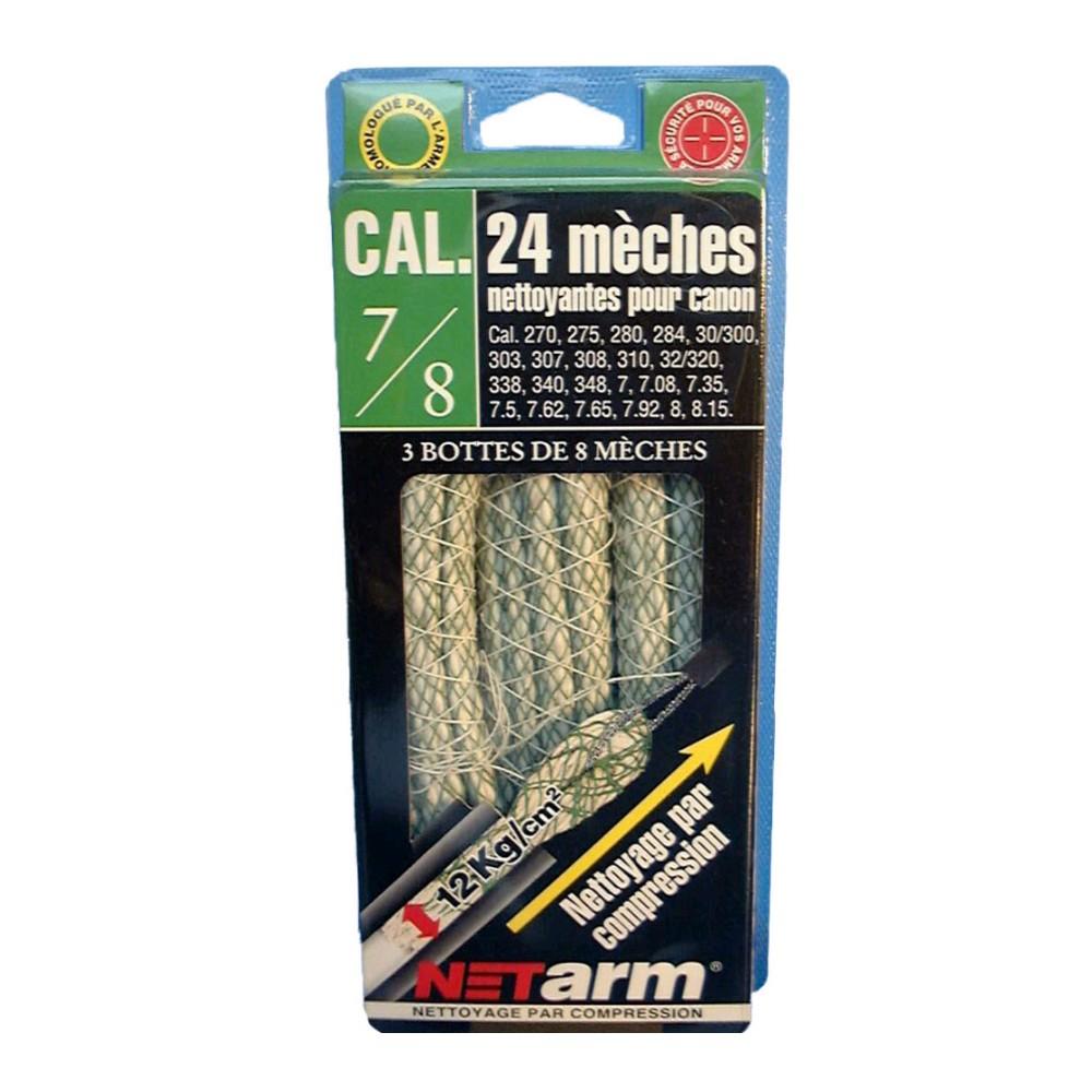 Blister 24 mèches vertes calibres 7/ 8mm