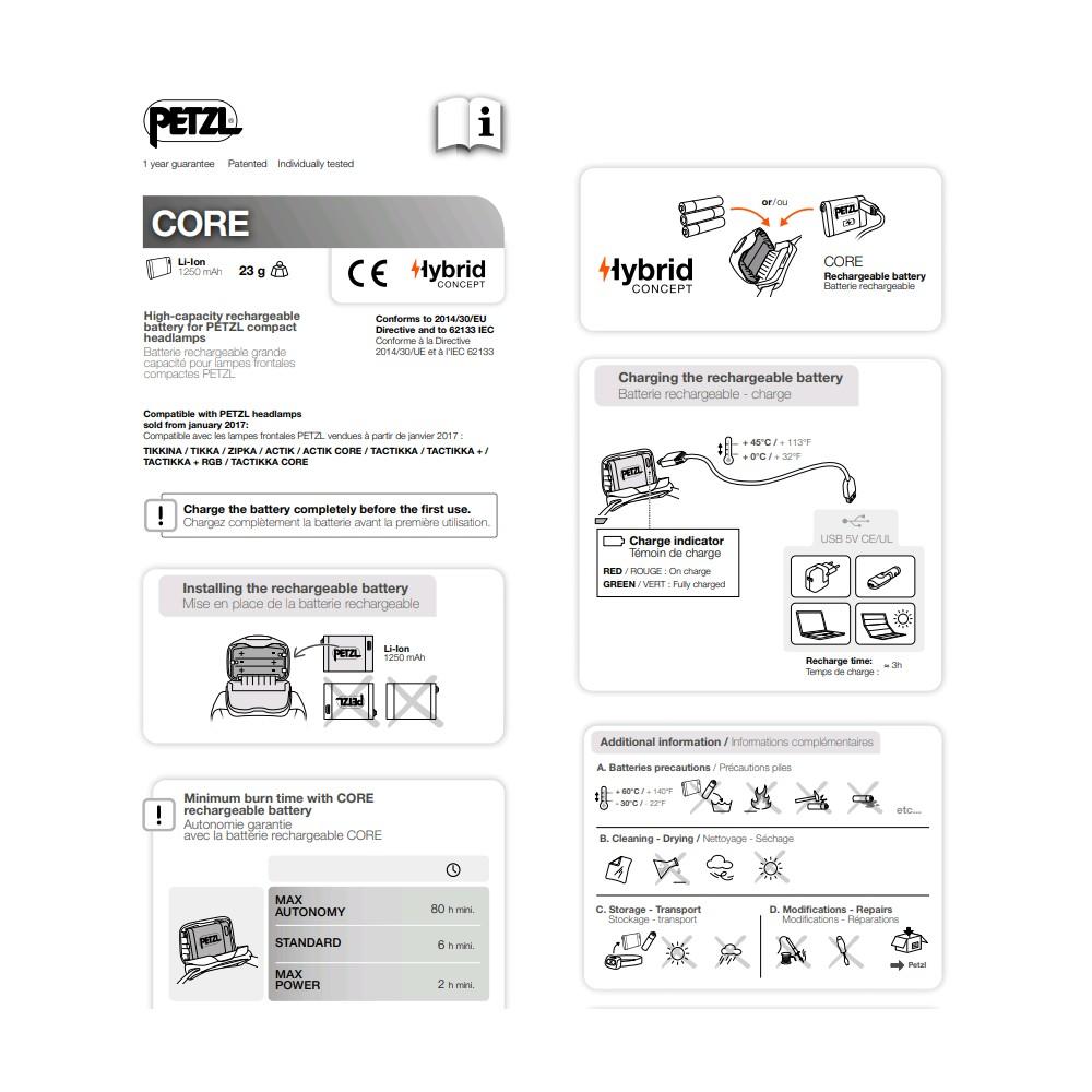 Batterie rechargeable Core pour lampes Petzl