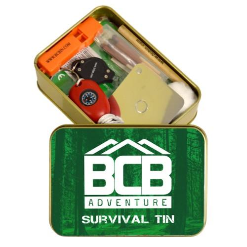 "Box of ""Adventure Survival Tin"""