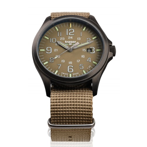 Montre Traser P67 OfficePro GunMetal Khaki 108631