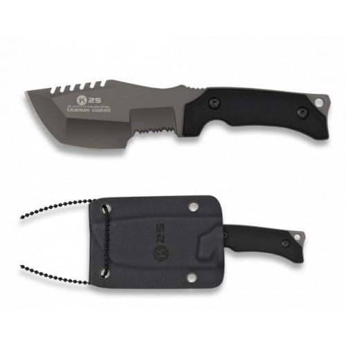 Couteau tour de cou. Revêtu. Kydex. 7.26 cm 32372