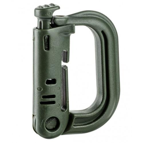Karabinerhacken D-Form für MOLLE oliv