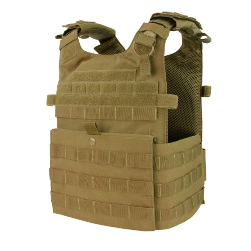GILET TACTIQUE PLATE CARRIER COYOTE BROWN