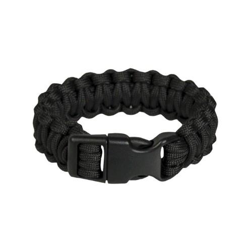 Bracelet paracord noir
