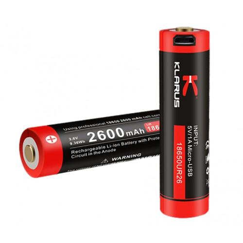 Batterie rechargeable prise micro USB pour lampe)