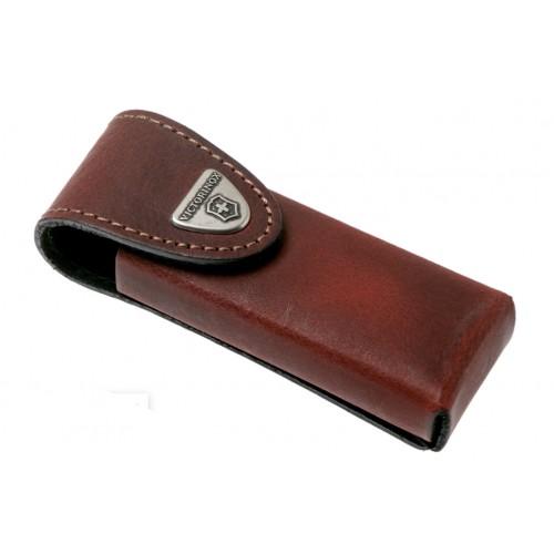 Etui ceinture cuir brun Victorinox