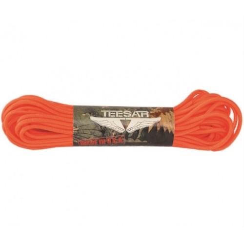 Paracorde de parachute 50ft, orange