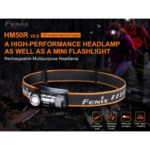 Lampe frontale Fenix HM50R V2.0 700 lum.