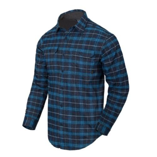 Chemise GreyMan Shirt - Blue Stonework Plaid